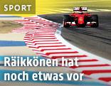 Kimi Räikkönen (FIN/Ferrrari) auf der Rennstrecke von Bahrain