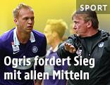 Raphael Holzhauser erhält Anweisungen von Austria-Coach Andi Ogris