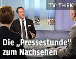FPÖ-Obmann Heinz-Christian Strache in der Pressestunde