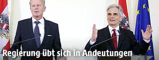 VK Reinhold Mitterlehner und BK Werner Faymann