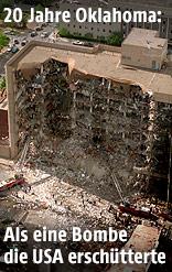 Das Alfred-Murrah-Gebäude nach dem Bombenanschlag