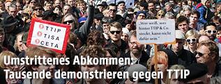 Demonstranten in Wien