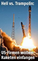 Start einer Falcon 9 SpaceX-Rakete