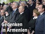 Mehrere internationale Politiker während der Gedenkveranstaltung