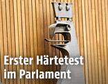 Adler im Parlament