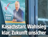 Wahlplakat in Kasachstan