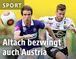 Emanuel Schreiner (Altach) und Fabian Koch (FK Austria Wien)