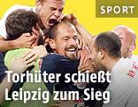 Leipzig-Spieler jubeln