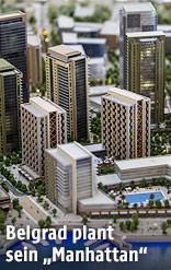 Model eines neuen Belgrader Stadtteils