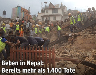 Rettungsarbeiten nach dem Erdbeben