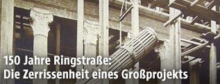 Bauarbeiten zum Österreichischen Parlament