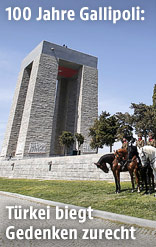 Das türkische Mehmetcik-Denkmal in Gallipoli