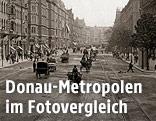 Der Oktogon von der Großen Ringstraße aus gesehen, 1896