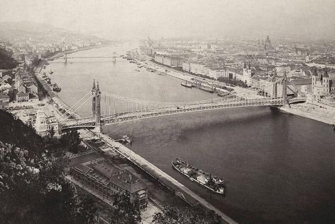 Budapester Ansicht vom Gellertberg aus, 1910er Jahre