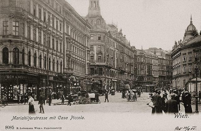 Mariahilfer Straße, um 1905