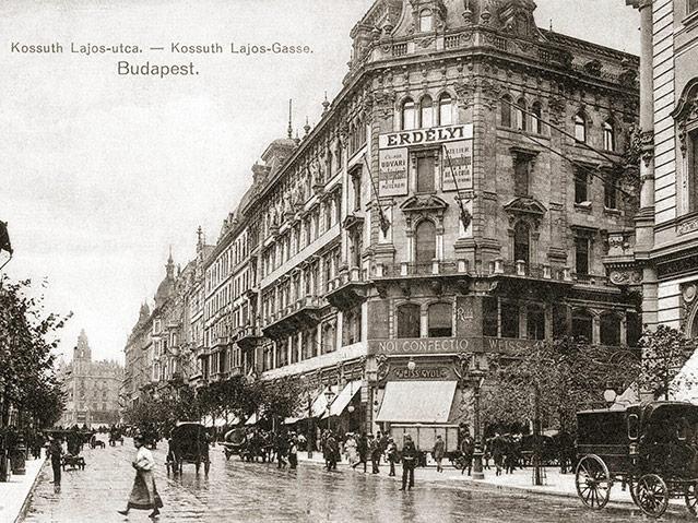 Kossuth Lajos Straße, um 1905