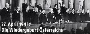 Provisorische Staatsregierung Österreichs am 1. Mai 1945