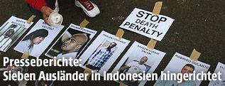 Bilder der zum Tode verurteilten Menschen