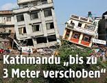 Zerstörte Häuser in Kathmandu