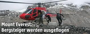 Hubschrauber am Mount Everest