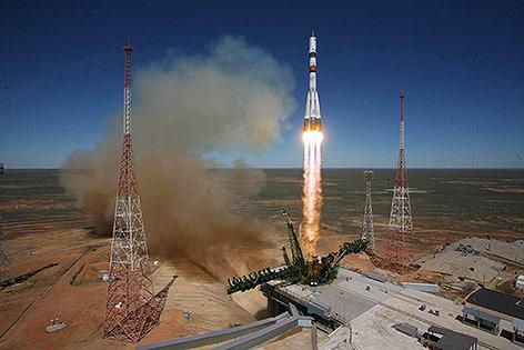 Raumfrachter Progress M-27M beim Start