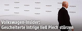 Der scheidende Vorsitzende des Aufsichtsrats der Volkswagen AG, Ferdinand Piech