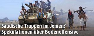 Soldaten bereiten Kampf gegen Huthi-Rebellen vor