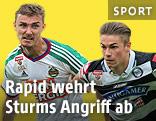 Mario Pavelic (Rapid) und Andreas Gruber (Sturm)