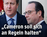 Francois Hollande und David Cameron