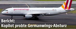 Das Unglücksflugzeug der Germanwings auf einem Flughafen