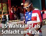 Kubaner mit USA-Shirt