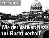 Schwarz-Weiß-Aufnahme des Petersdoms
