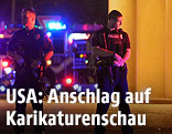 Polizei sichert Tatort ab