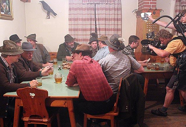 """Dreharbeiten zum Dokumentarfilm """"Der Graben"""""""