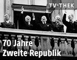 Antoine Pinay, Vyatcheslav Molotov, Leopold Figl, John Foster Dulles, Harold MacMillian, 1955