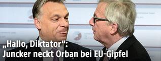 Viktor Orban und Jean-Claude Juncker