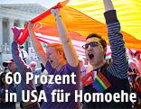 Homosexuellenehe-Unterstützer bei einer Demonstration in Washington DC