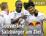 Jubel der Salzburg-Spieler