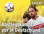 VfB Stuttgart-Spieler Martin Harnik kämpft um Ball
