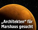 Rendering zeigt den Mars