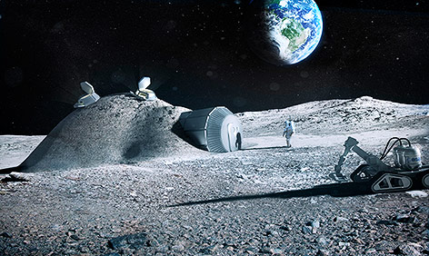 Rendering der Lunar-Base