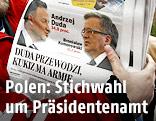 Titelblatt einer polnischen Zeitung zeigt Duda und Komorowski