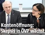 Niederösterreichs Landeshauptmann Erwin Pröll und Innenministerin Johanna Mikl-Leitner