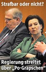 Justizminister Wolfgang Brandstetter und Frauenministerin Gabriele Heinisch-Hosek