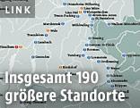 Stromkarte Österreichs