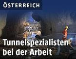 Bauarbeiten in einem Tunnel