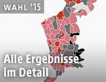 Screenshot zur Hochrechnung der LH-Wahl im Burgenland