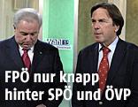 Steiermarks Spitzenkandidaten Landeshauptmann Franz Voves (SPÖ) und Hermnann Schützenhöfer (ÖVP)
