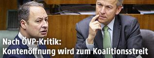 SPÖ-Klubobmann Andreas Schieder und ÖVP-Klubobmann Reinhold Lopatka