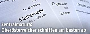 Musterhefte für Mathematik, Englisch und Deutsch